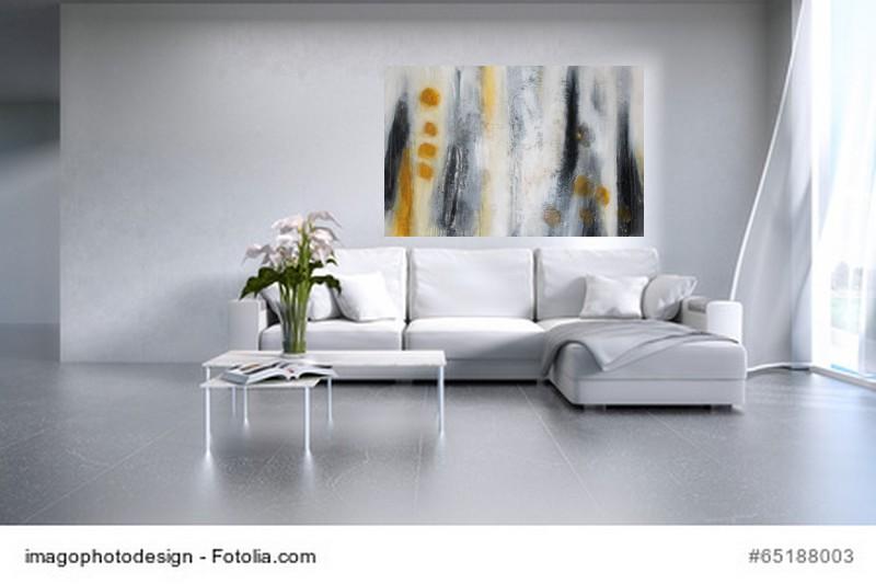Abstrakte Kunst Atelierfenster  Sonne 1Cornelia Hauch
