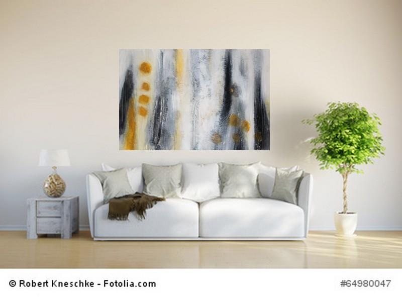 Abstrakte Kunst Atelierfenster  Sonne 3Cornelia Hauch