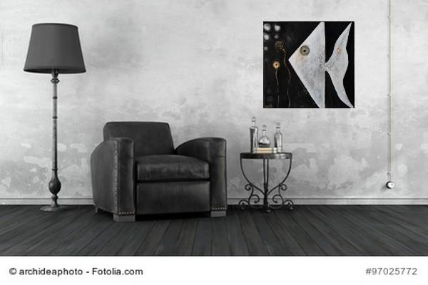 Abstrakte Kunst Fisch 6Cornelia Hauch