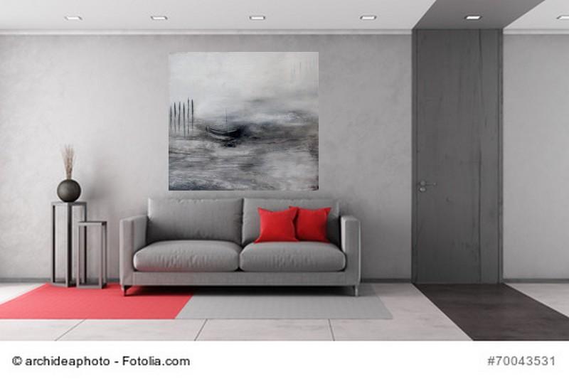 Abstrakte Kunst Gestrandet im Watt 4Cornelia Hauch