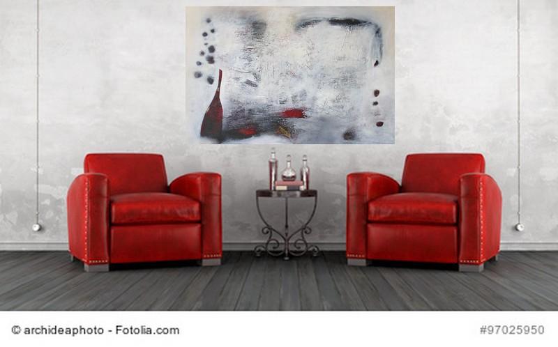 Abstrakte Kunst Rosenrot 11Cornelia Hauch