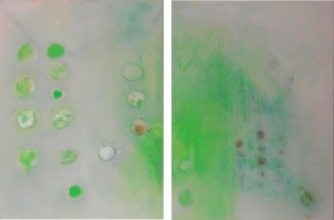 Acrylbild abstrakt Frühlingsbeginn 5Cornelia Hauch