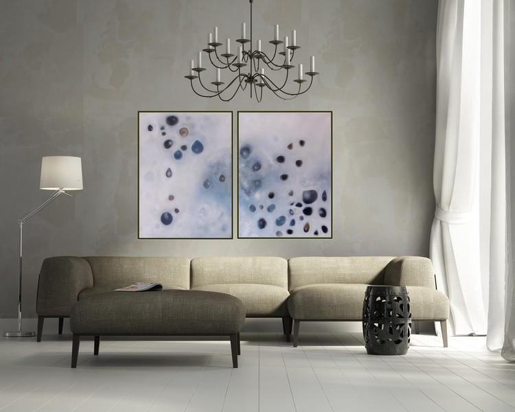 Acrylbild abstrakt Regentropfen3