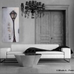 Acrylbild abstrakt Laterne4Cornelia Hauch