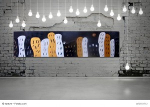 Abstrakt Bild Acryl Häuser Manarola 3 Cornelia Hauch