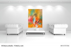 Acrylbild abstrakt Chaos  2Cornelia Hauch