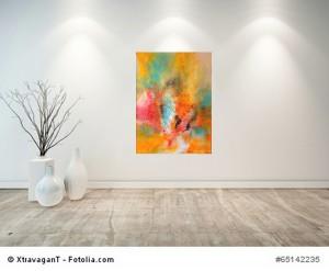 Acrylbild abstrakt Chaos  3Cornelia Hauch