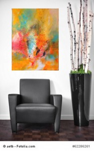 Acrylbild abstrakt Chaos  4Cornelia Hauch