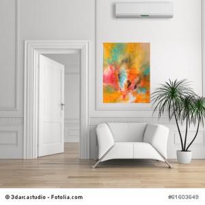 Acrylbild abstrakt Chaos  5Cornelia Hauch