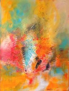 Acrylbild abstrakt Chaos Cornelia Hauch