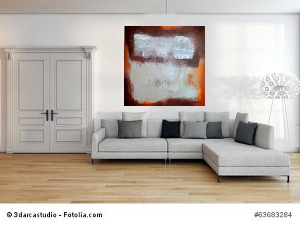 Acrylbild abstrakt Seesterne und Seepferdchen  4 Cornelia Hauch