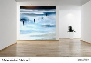 Acrylbild abstrakt Norderney 1 Cornelia Hauch