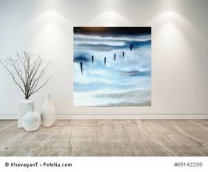 Acrylbild abstrakt Norderney 3 Cornelia Hauch