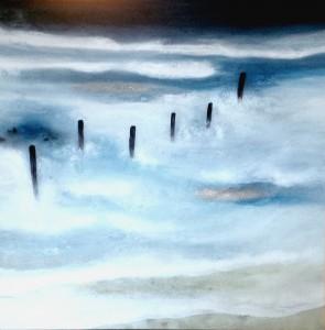 Acrylbild abstrakt Norderney Cornelia Hauch