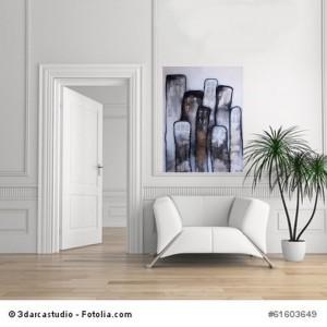 Acrylbild abstrakt Metropolia 60x80 Cornelia Hauch