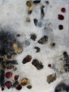 Acrylbild abstrakte Kunst Flussgeschichten 1Cornelia Hauch