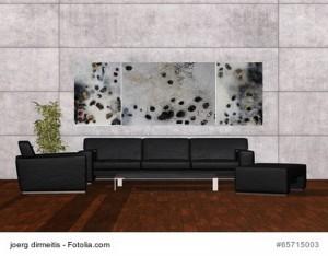 Acrylbild abstrakte Kunst Flussgeschichten 6Cornelia Hauch