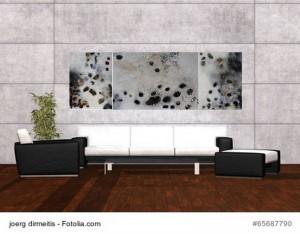 Acrylbild abstrakte Kunst Flussgeschichten 7Cornelia Hauch