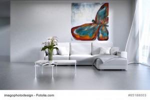 Acrylbild abstrakte Kunst Schmetterling 4Cornelia Hauch
