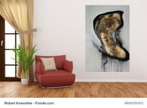 Acrylbild abstrakte Kunst Schmetterlingsspiel 1Cornelia Hauch