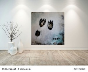 Acrylbild abstrakt Tulpen 8Kunst Cornelia Hauch