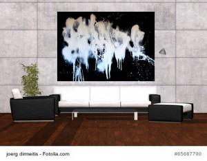 Acrylbild abstrakte Kunst Elfenflug 2Cornelia Hauch