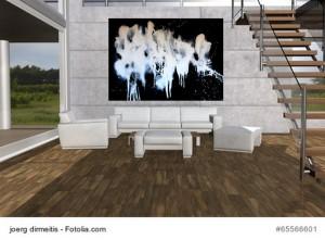 Acrylbild abstrakte Kunst Elfenflug 3Cornelia Hauch