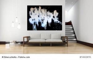 Acrylbild abstrakte Kunst Elfenflug 5Cornelia Hauch