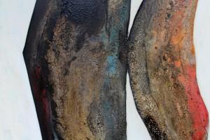 Acrylbild abstrakte Kunst Regenbogenfisch 1Cornelia Hauch