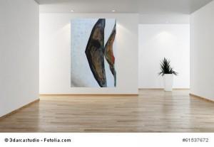 Acrylbild abstrakte Kunst Regenbogenfisch 4Cornelia Hauch