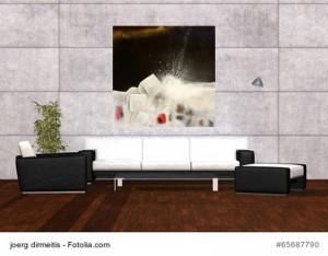 In Pesaro nachts am Meer Cornelia Hauch 4Kunst abstrakt