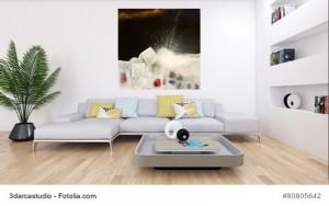 In Pesaro nachts am Meer Cornelia Hauch6 Kunst abstrakt
