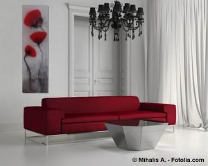 Acrylbild abstrakt Mohnblumen 3Hauch Cornelia