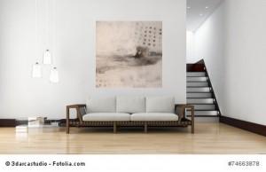 Abstrakte Kunst Kahn bei Regenfahrt in Amsterdam 2Cornelia Hauch