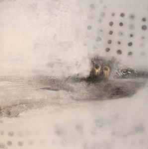 Abstrakte Kunst Kahn bei Regenfahrt in Amsterdam Cornelia Hauch