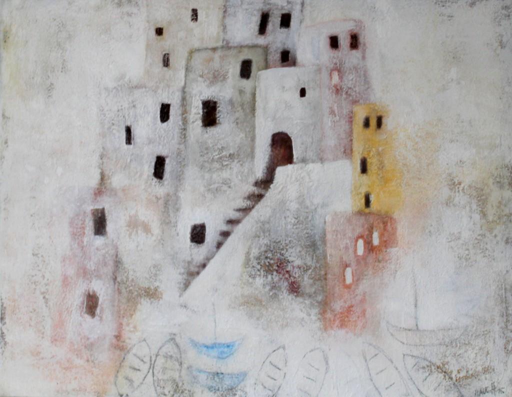 Abstrakt Bild Kunst Zitronen Cornelia Hauch