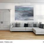 Abstrakte Kunst Verloren im Watt 5Cornelia Hauch