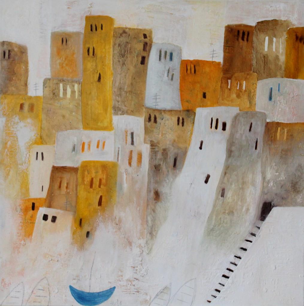 Abstrakte Kunst Zitronen Cornelia Hauch