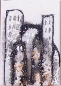 Acrylbild abstrakt Metropolia 1Cornelia Hauch