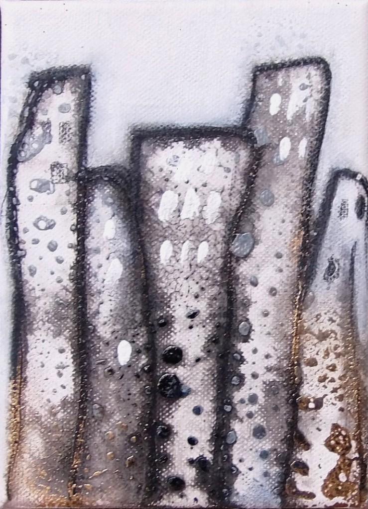 Acrylbild abstrakt Metropolia 2Cornelia Hauch