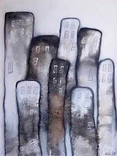 Acrylbild abstrakt Metropolia 60x80 1Cornelia Hauch