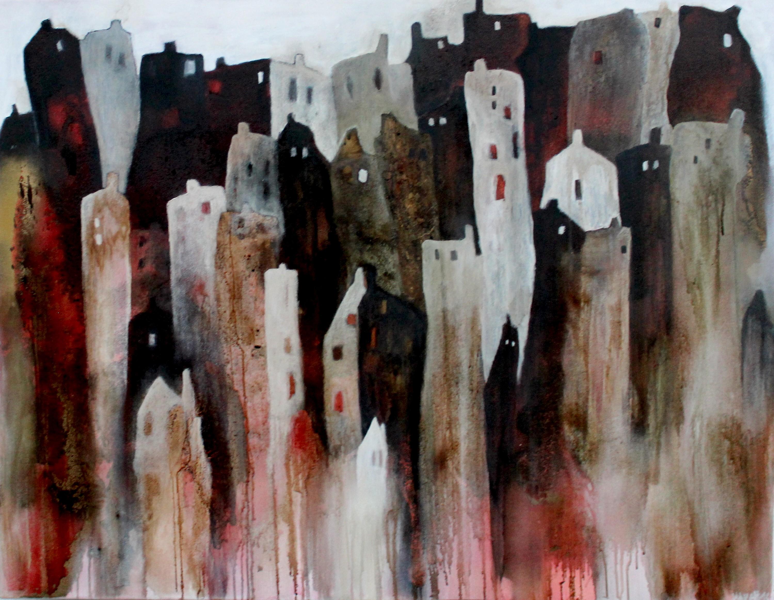 Abstrakte Kunst Cornelia Hauch Nachts wenn alle schlafen