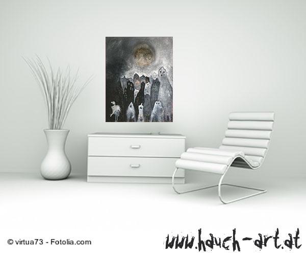 Modell - Sessel vor Kommode