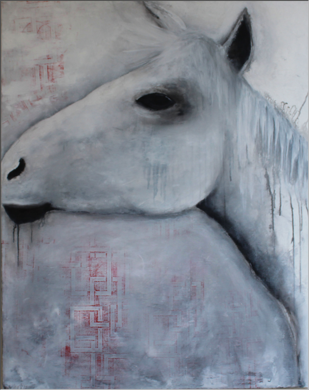 Abstrakte Kunst Pferd1Cornelia Hauch
