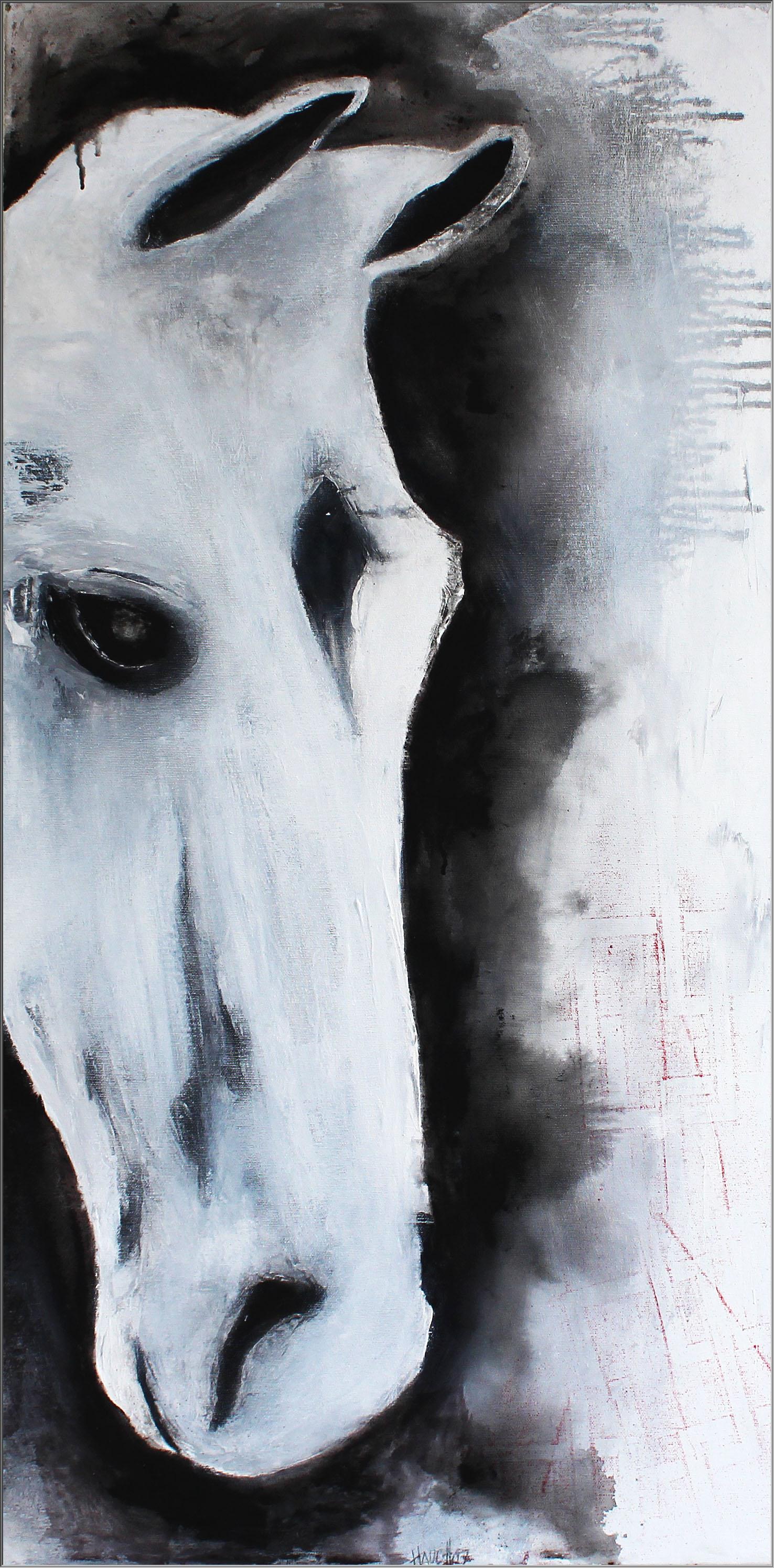 Abstrakte Kunst Pferd3Cornelia Hauch1