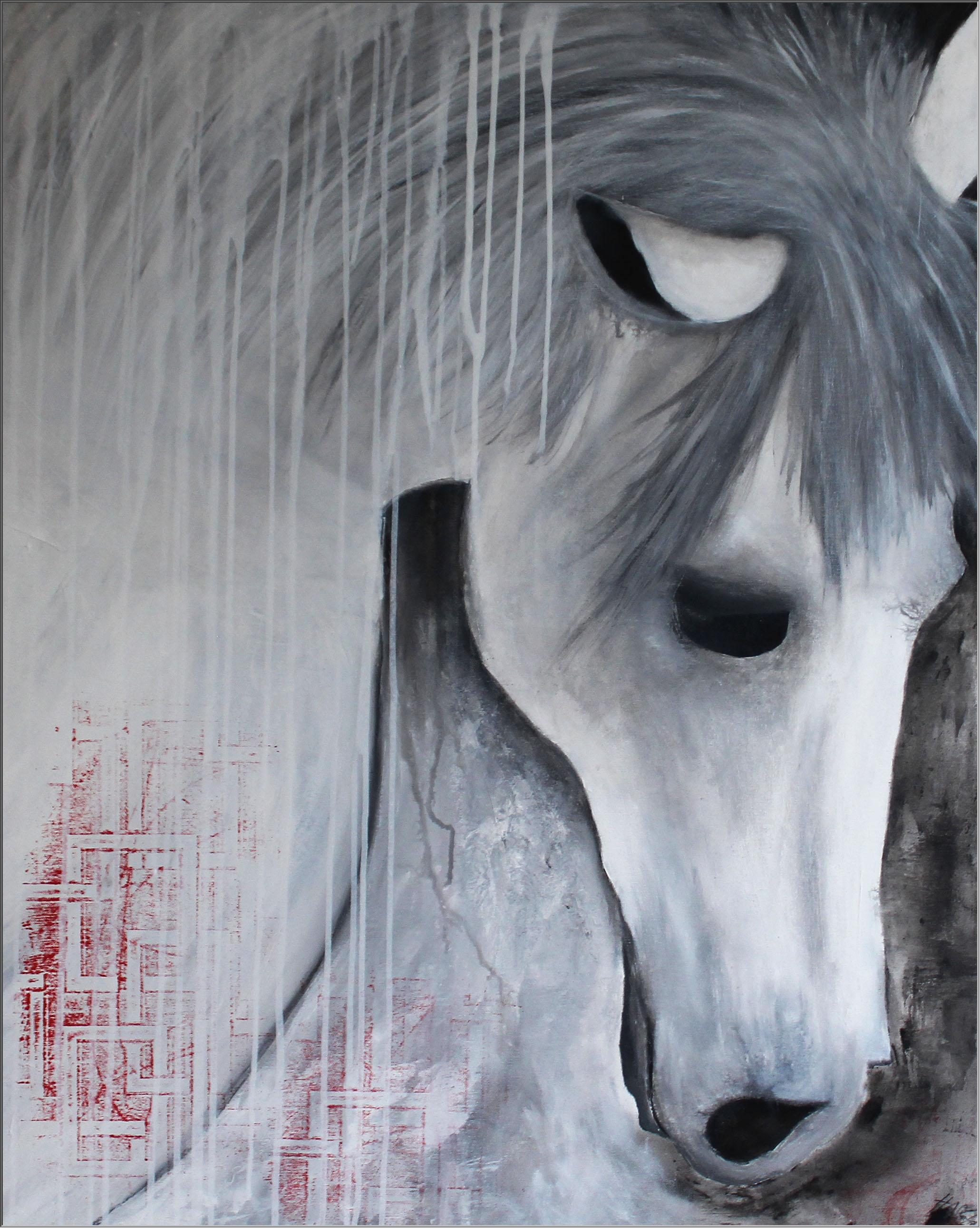 Abstrakte Kunst Pferd4Cornelia Hauch4