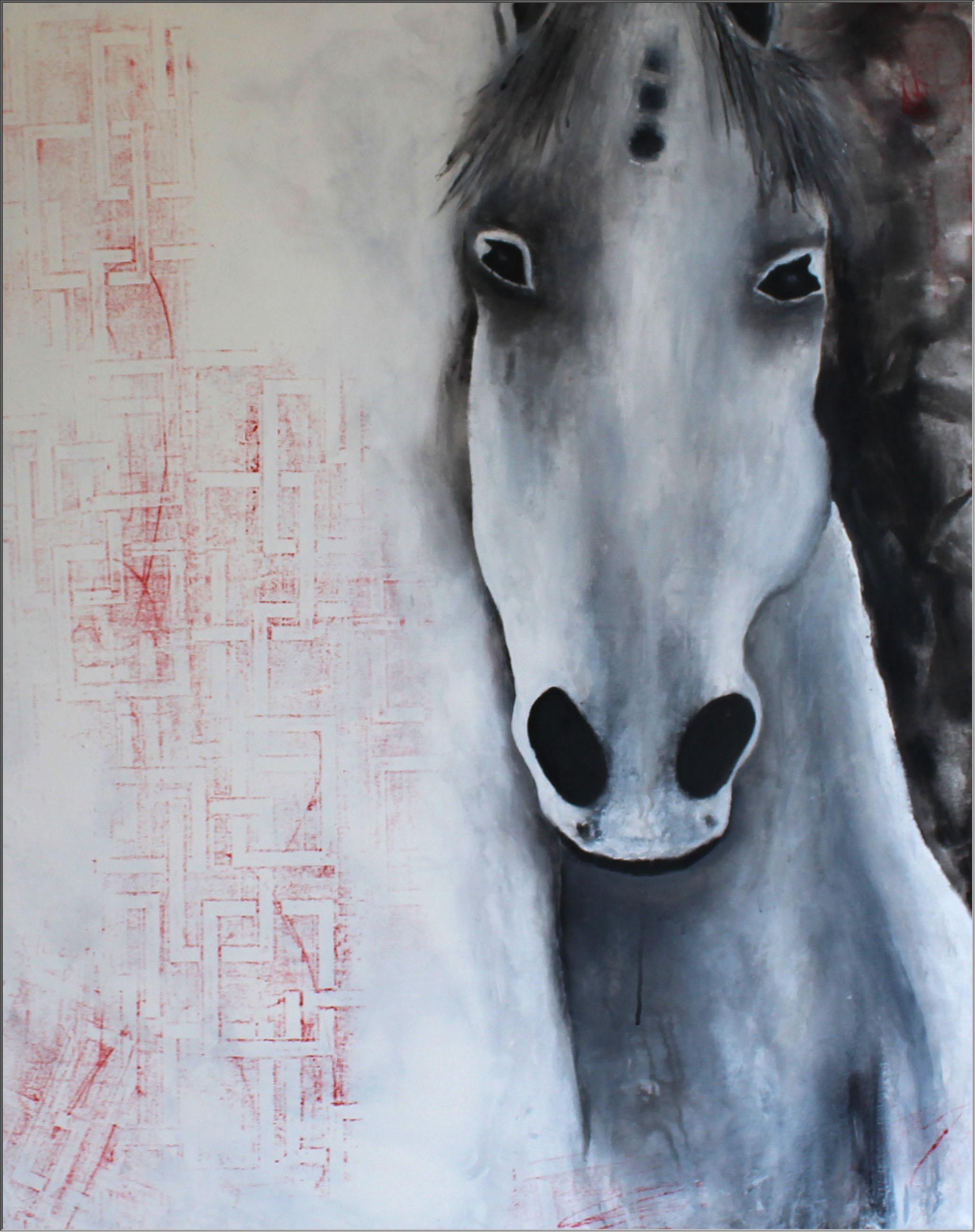 Abstrakte Kunst Pferd5Cornelia Hauch4