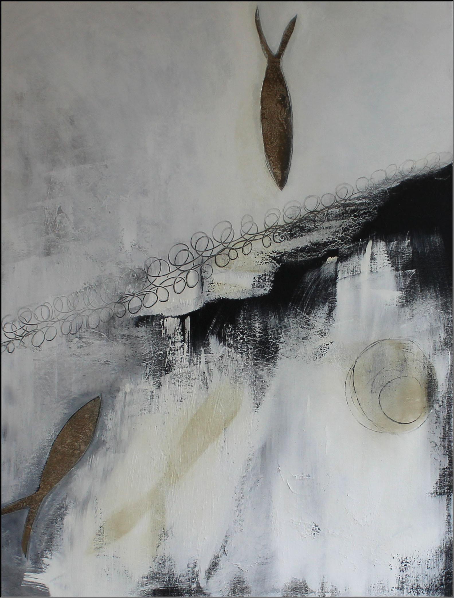 Abstrakte Kunst Lass mich nicht allein Cornelia Hauch