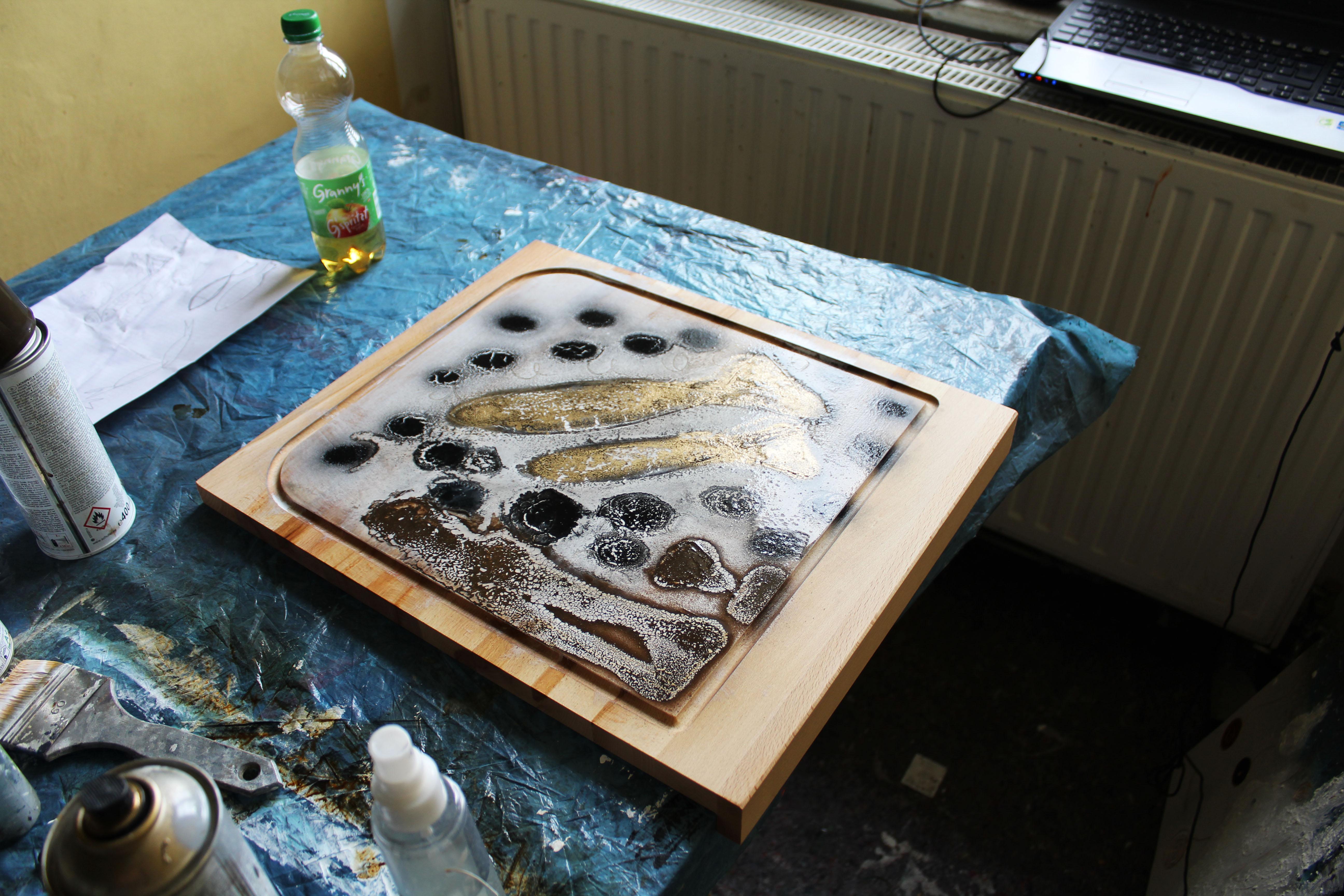 Abstrakte Kunst Lass mich nicht allein Cornelia Hauch3