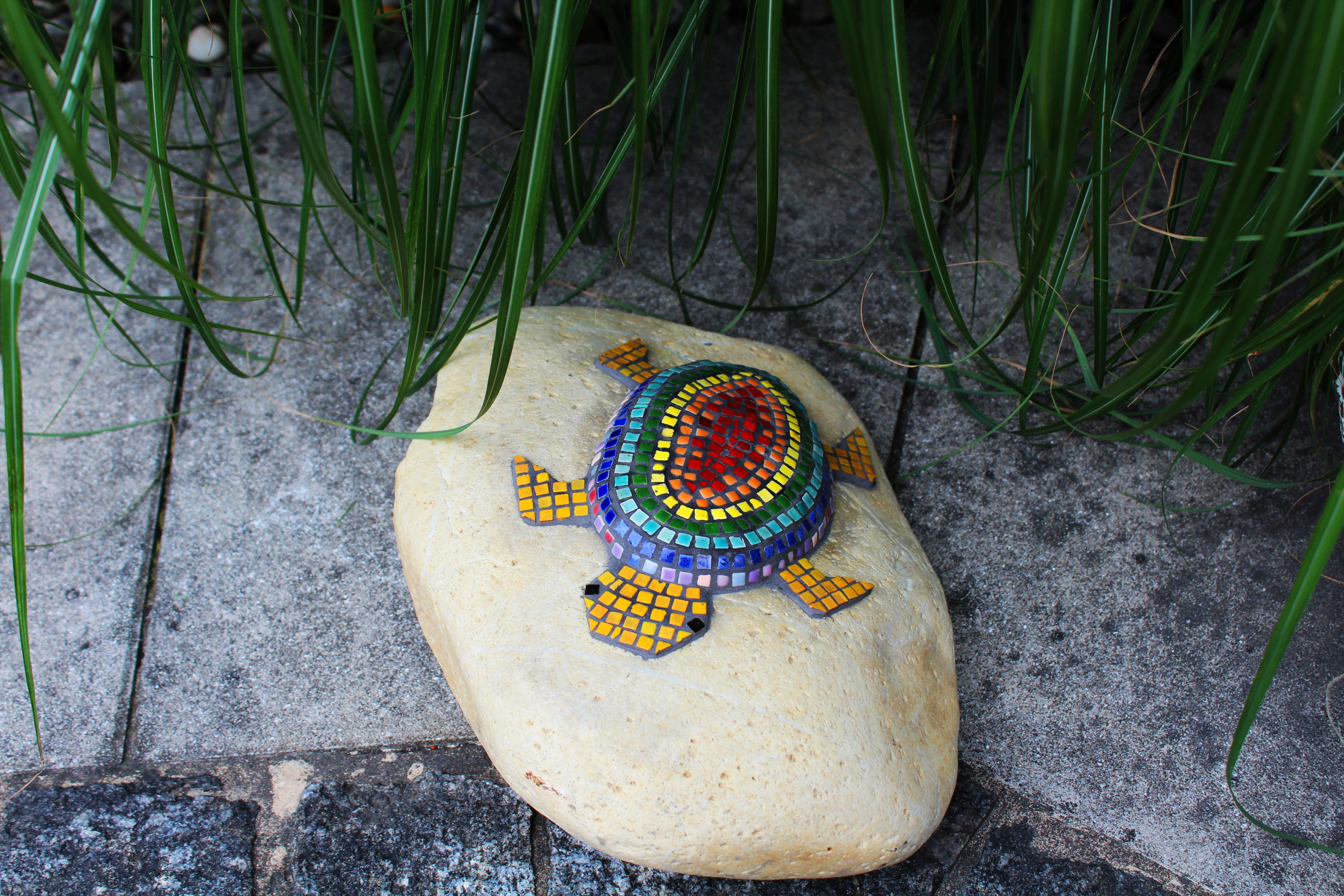 Mosaik Schildkröte Regenbogen